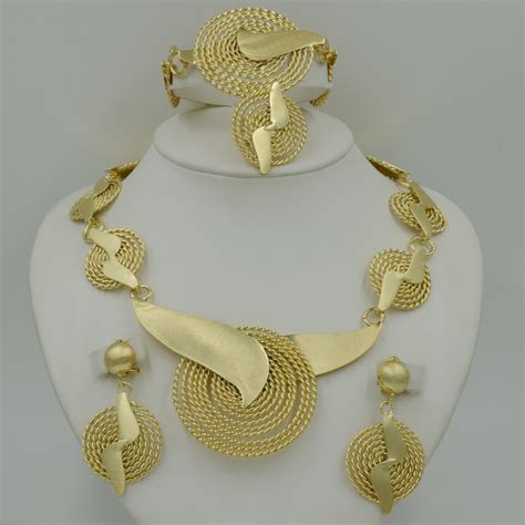 Handmade Gold - 2015 handmade dubai gold plated jewelry sets 14k fashion