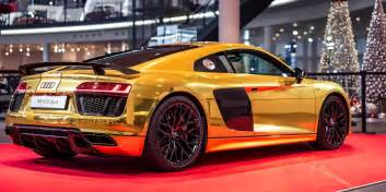 gold audi r8 v10 photos business insider
