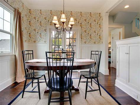 wallpaper dining room ideas bloombety farmhouse dining room wallpaper design ideas