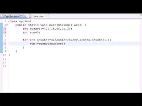 java tutorial youtube bucky java programming tutorial 29 summing elements of