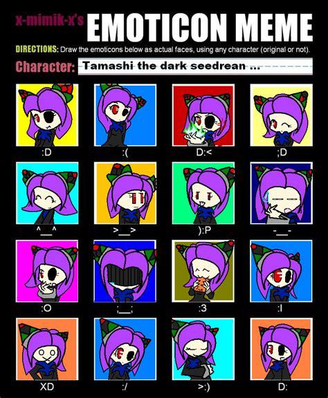 Emoticon Meme - emoticon meme tamashi by shinybluewolf16 on deviantart