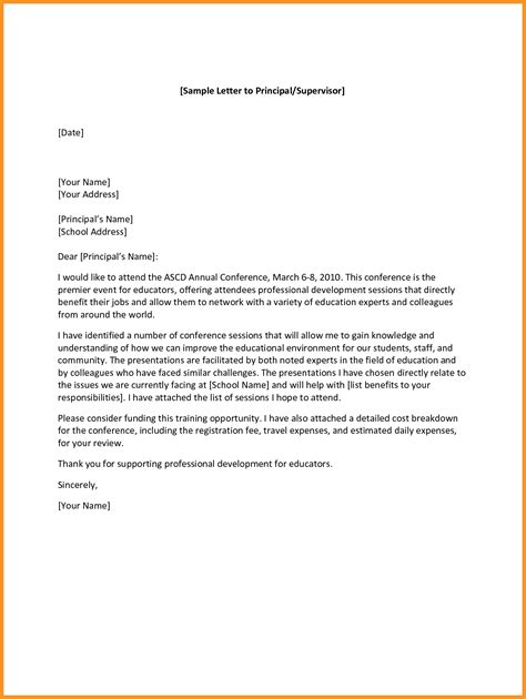 appointment letter to principal format of formal letter to principal letters free