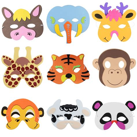 Free Giveaways For Kids - free shipping 12pcs assorted eva foam animal masks for kids birthday party favors