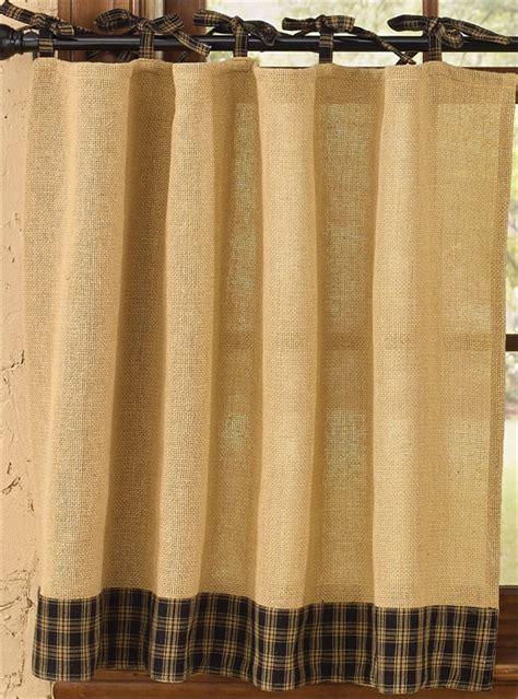 black burlap curtains black burlap tie sturbridge curtain tiers 72 quot x 36 quot