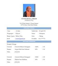 Contoh Resume Untuk Temuduga Kerja Kerajaan Contoh Resume Bergambar Yang Ringkas Dan Padat