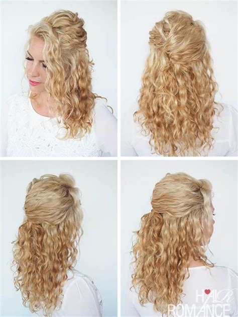 quick and easy hairstyles for really curly hair a quick half up twist in curly hair if you want to see