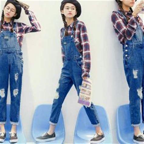 Baju Jumpsuit Levis Panjang setelan rok kodok panjang model terbaru cantik murah