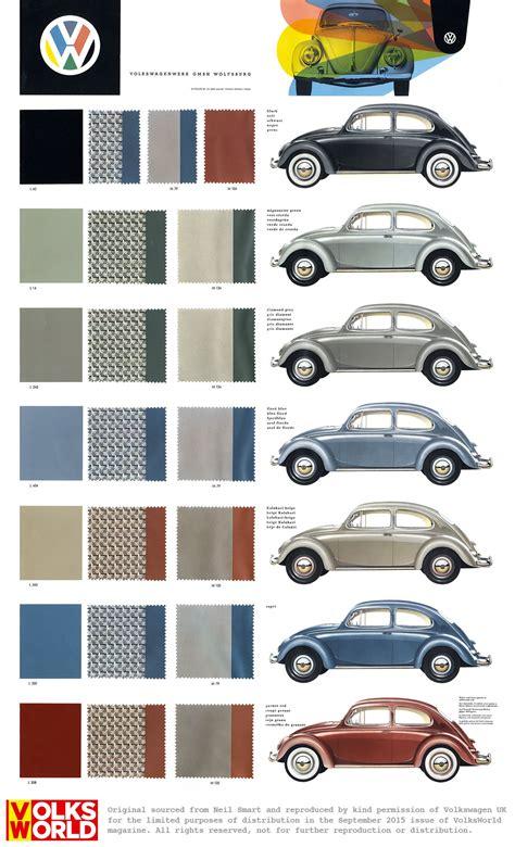 vw beetle colour charts das auto volkswagen beetle  vw beetles