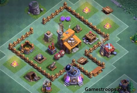 layout coc level 3 clash of clans top 3 builder hall level 3 base bh3 2000