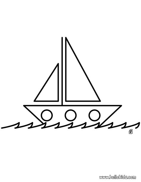 boat coloring pages hellokids