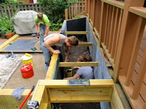 Waterproofing Wood Planters by Wooden Planter Boxes Repaired Deck Urbana New Prairie