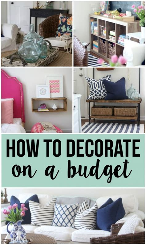 decorating on a budget home base