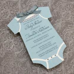 Baby Shower Templates For Boy by Baby Shower Invitation Template Boys Onsie Print