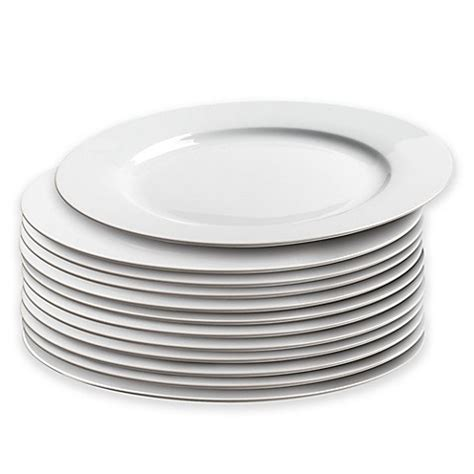 bed bath and beyond dinner plates caterer s dinner plates in white set of 12 bed bath
