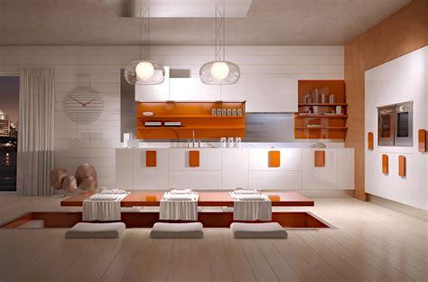 sunken kitchen gorgeously minimal kitchens with perfect organization