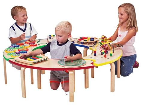 Kid Activity Table by Anatex Circle Of Table Activity Table Modern Tables And Chairs By Hayneedle