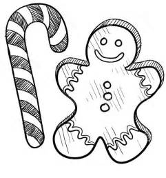 gingerbread men and candy cane coloring page coloring sun