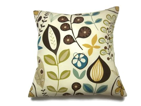 Etsy Designer Pillows by Decorative Pillow Cover Modern Floral Yellow Gold Brown