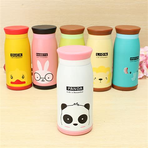 Vacuum Bottle Animal animal vacuum flask thermos tea water cup bottle 350ml alex nld
