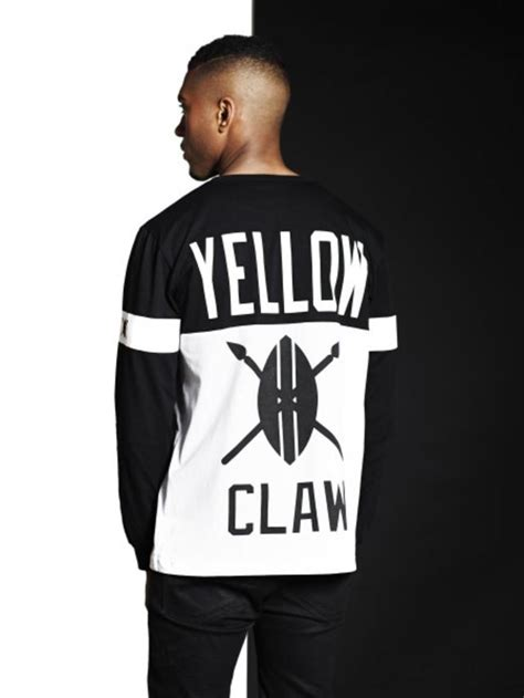 Hoodie Yellow Claw 06 blood for mercy white black longsleeve shirt endource