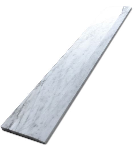 carrara carrera bianco 6x36 threshold saddle polished