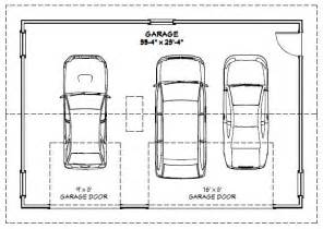 3 Car Garage Width by 28 Garage Dimensions On 3 1000 Images