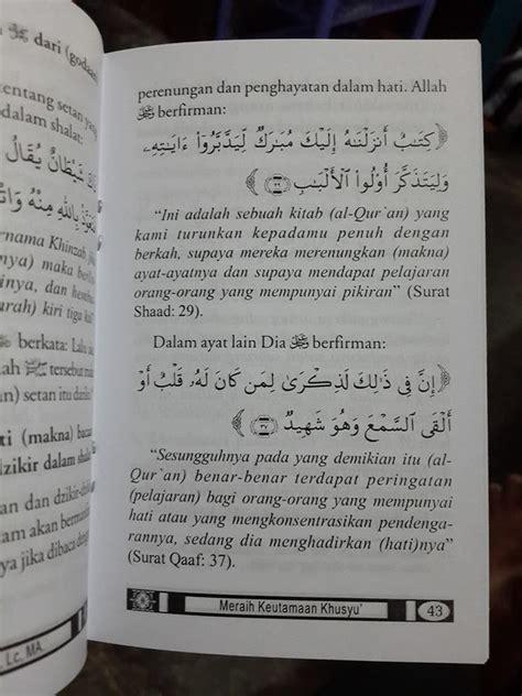 Doa Dan Dzikir Sehari Hari Menurut Tuntunan As Sunnah Yang Shahih buku saku meraih keutamaan khusyu menurut quran sunnah