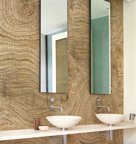 wand mit spiegel gestalten badezimmer ohne fliesen mal anders gestalten 26 ideen