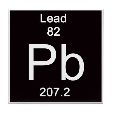 periodic table lead tile coaster by science lady