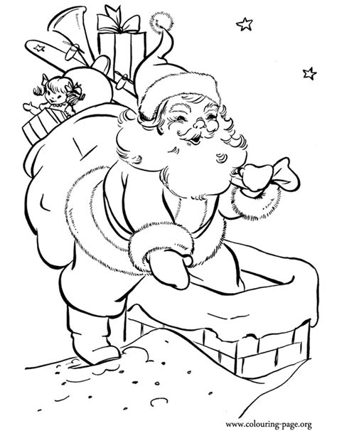 coloring pages santa chimney free coloring pages of chimney