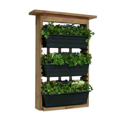 Wall Planters Home Depot by Vertical Wall Planters Pots Planters The Home Depot
