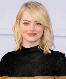emma stone forehead find the perfect bangs for your face shape instyle com