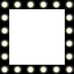lights border clipart showbiz make up mirror style frame