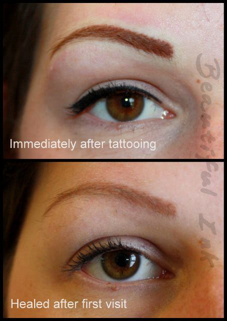 tattooed eyebrows before and after tattooed eyebrows stretch treatment scars