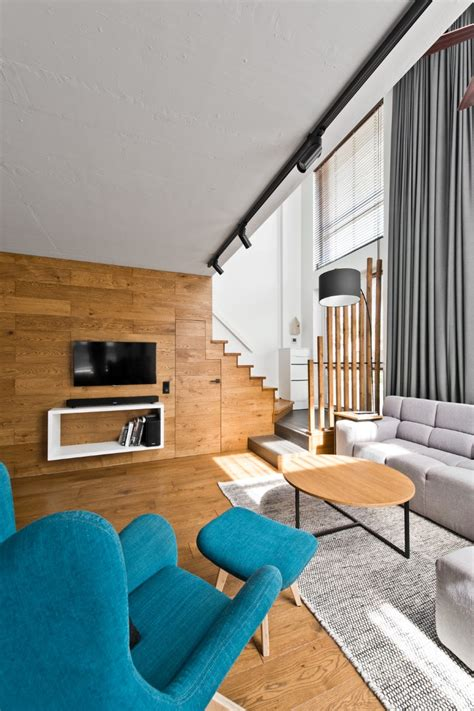 scandinavian modern loft interior  inarch