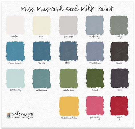 miss mustard seed milk paint colors colorways with leslie stocker
