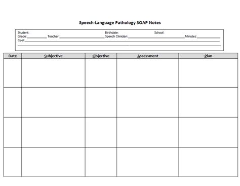 speech therapy progress notes template the talking owls freebie speech language pathology soap note form