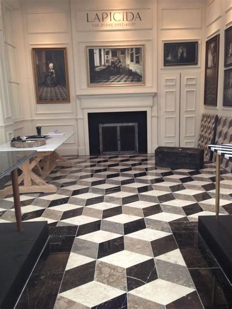floor design bespoke lapicida reclaimed geometric marble floor at