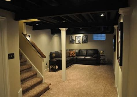 Low Ceiling Finished Basement by 1000 Ideas About Basement Finishing On