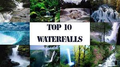 famous waterfalls in the world 10 most beautiful waterfalls in the world www pixshark