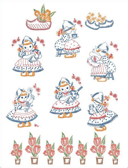 free kitchen embroidery designs dutch girls kitchen set