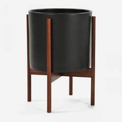 case study cylinder plant pot with stand modernica pot case study cylinder plant pot w wood stand by modernica