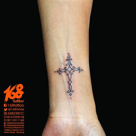 female tattoo placement cross small on wrist placement my