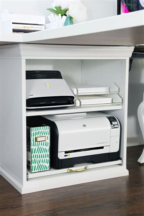 desk with printer storage 249 best images about organizing workspace on pinterest