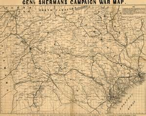 general sherman s 1864 caign war map of and