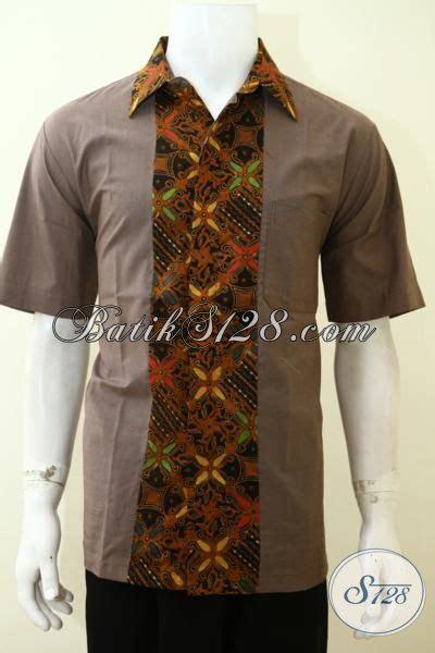 Kain Batik Wayang Katun Embos kemeja batik lengan pendek motif kombinasi kain polos