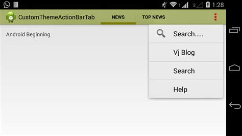 layoutinflater source android beginning bunch android custom theme actionbar