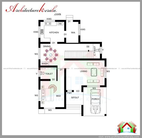 kerala home design 1800 sq ft 1800 sq ft house plan with detail dimensions architecture