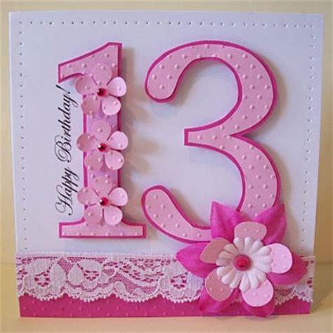 Birthday Card For 13 Year Happy Birthday 13 Card Ideas Birthday Pinterest