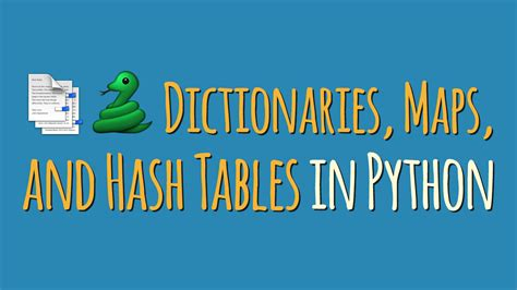 Hash Table In Python dictionaries maps and hash tables in python dbader org